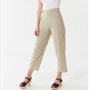 UO Maria Button-Fly Tapered Trouser in Khaki 12